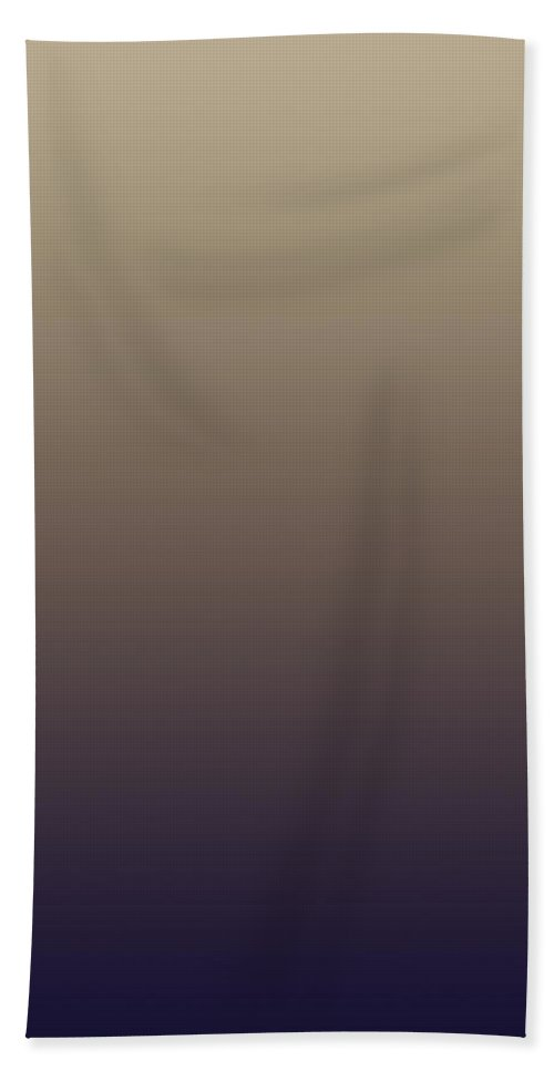 Navy And Tuscan - Abstract Bath Sheet featuring the digital art Navy And Tuscan - R Blended by Custom Home Fashions