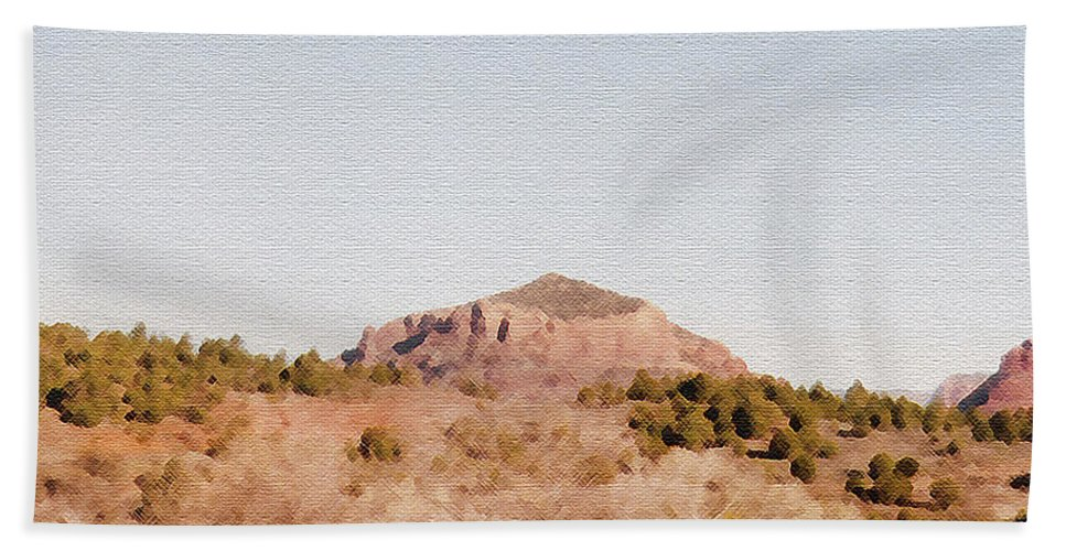 Desert Hand Towel featuring the photograph Nearly Deserted by Pharris Art