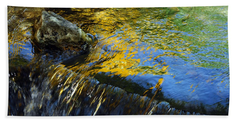 Water Hand Towel featuring the photograph Nearly Swept Away by Donna Blackhall