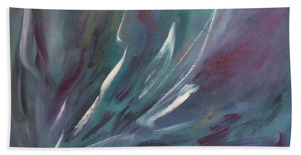 Acrylic Bath Sheet featuring the painting Nebula by Anita Burgermeister