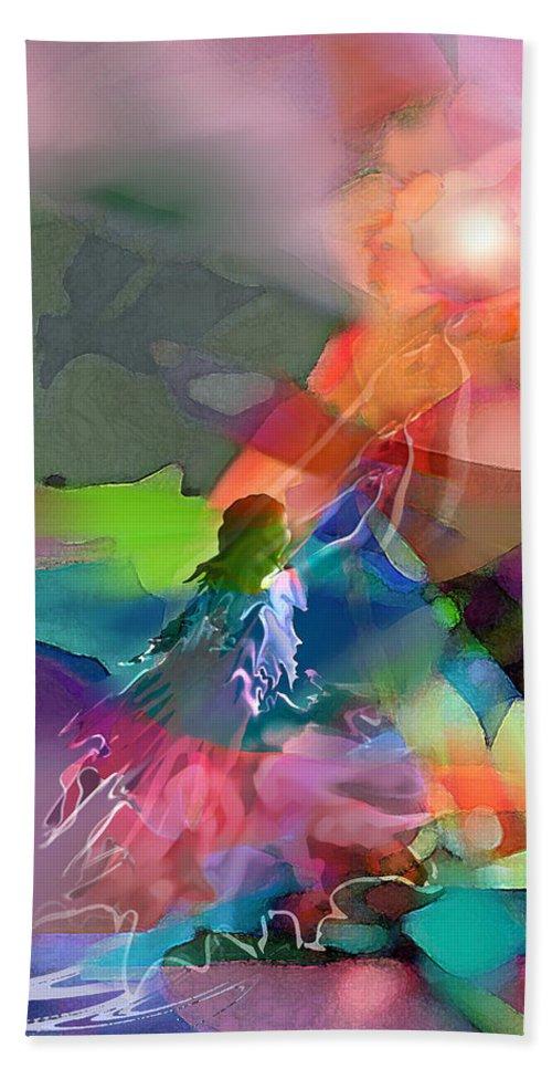 Spiritual Hand Towel featuring the digital art Nectar Of Heaven by Tony Macelli