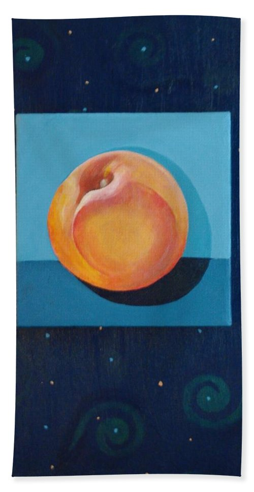 Nectarine Bath Sheet featuring the painting Nectarine by Helena Tiainen