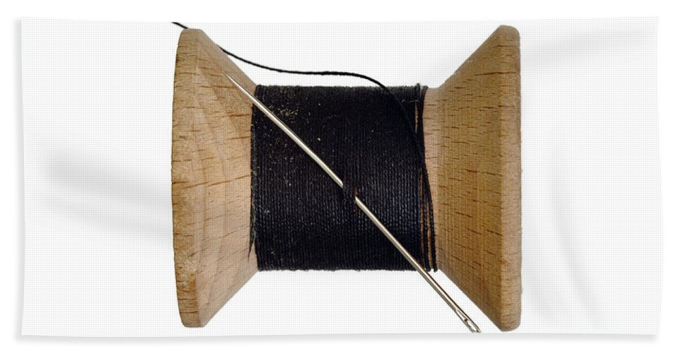 Needle Hand Towel featuring the photograph Needle And Thread by Michal Boubin