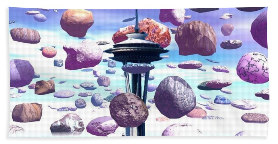 Seattle Hand Towel featuring the photograph Needle Rocks by Tim Allen