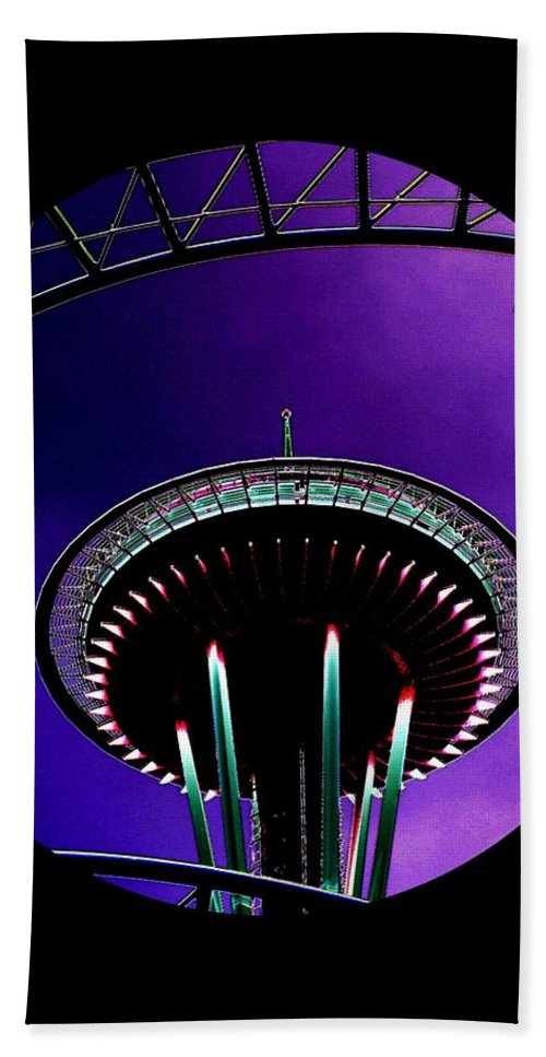 Seattle Hand Towel featuring the digital art Needle Rollercoaster by Tim Allen