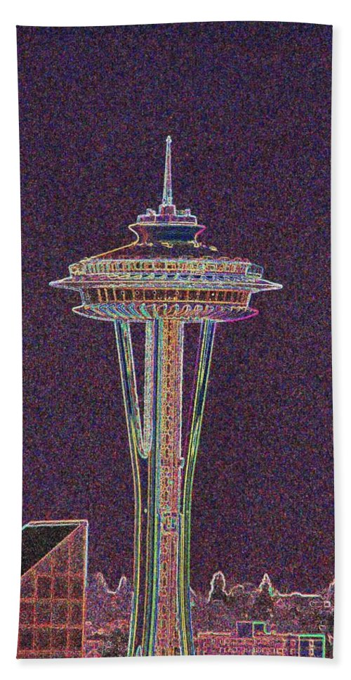 Seattle Bath Towel featuring the photograph Needle by Tim Allen