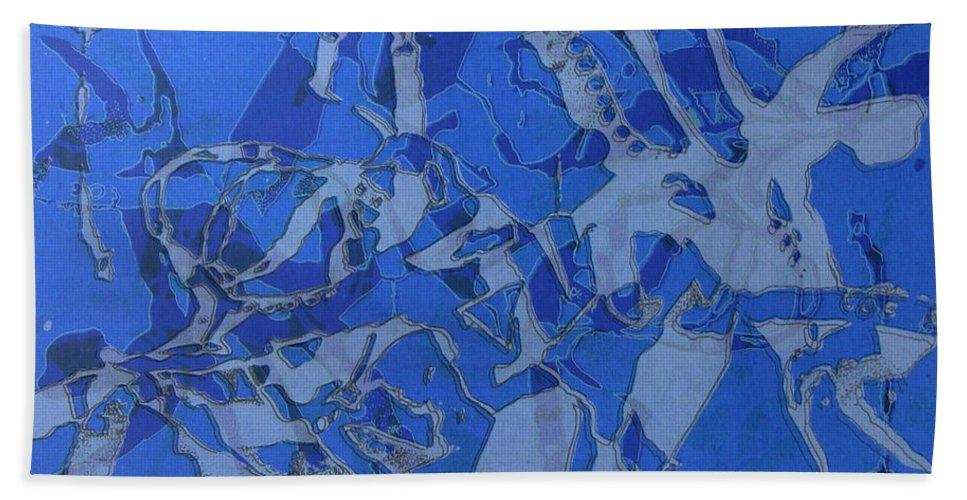 Silkscreen Bath Towel featuring the digital art Negative Photo Silkscreen by Ron Bissett