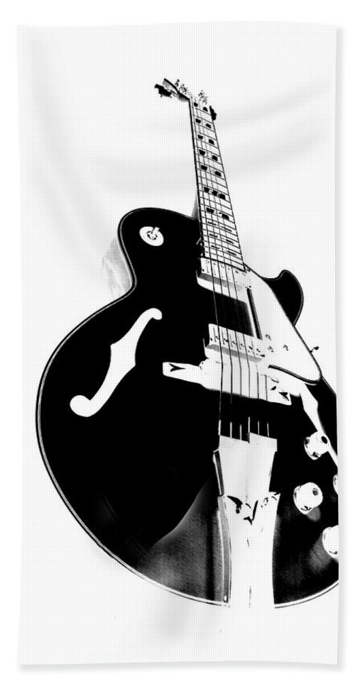 Guitar Hand Towel featuring the photograph Negative Space by Donna Blackhall