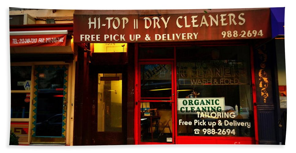 Dry Cleaner Hand Towel featuring the photograph Neighborhood Shop - Dry Cleaners by Miriam Danar