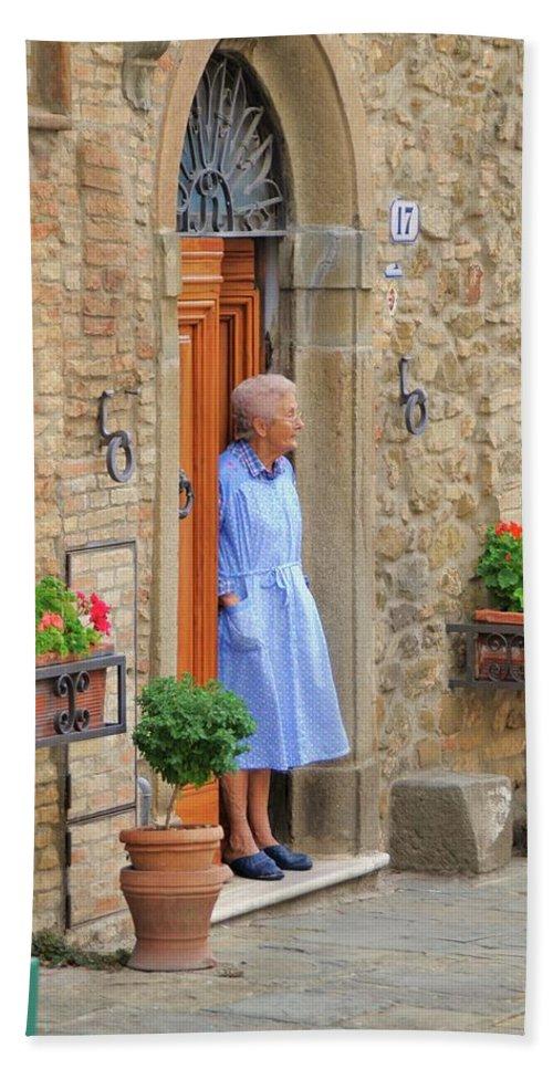 Italy Bath Sheet featuring the photograph Neighborhood Watch by Jim Benest