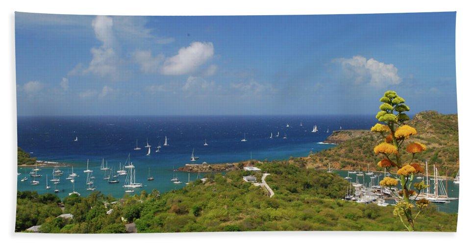 Caribbean Islands Hand Towel featuring the photograph Nelson's Dockyard Antigua by Gary Wonning