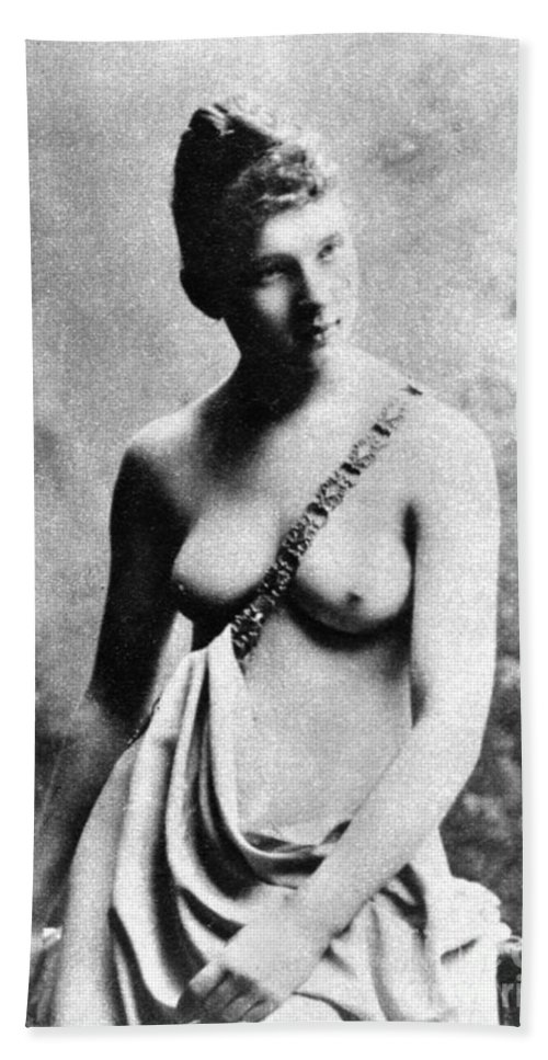 19th Century Hand Towel featuring the photograph Neoclassical Nude by Granger