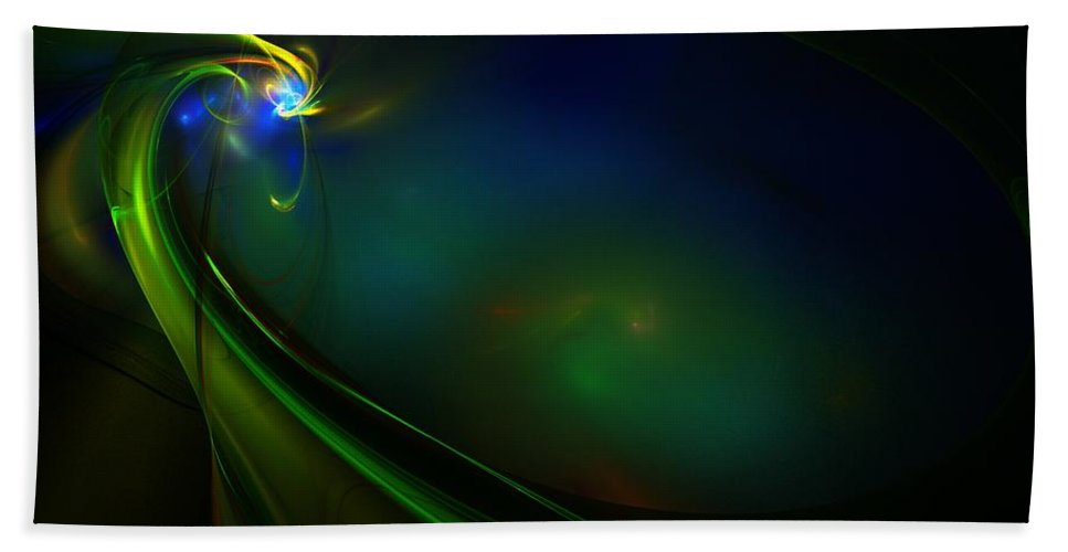 Digital Painting Bath Sheet featuring the digital art Neon God by David Lane