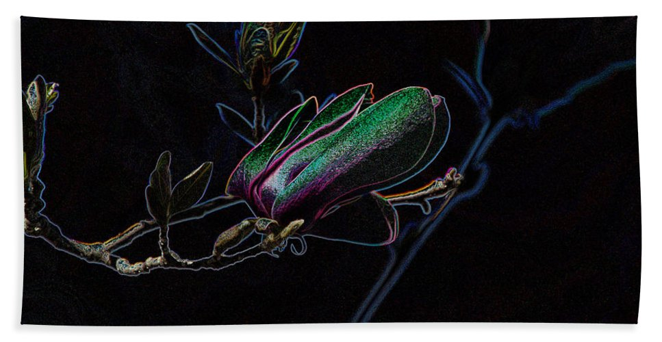 Tulip Tree Hand Towel featuring the photograph Neon Tulip Tree 5090 by Ericamaxine Price