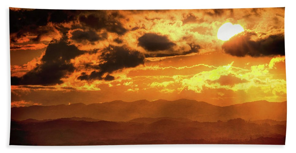 Landscape Bath Sheet featuring the photograph Nested Sun by Jim Love
