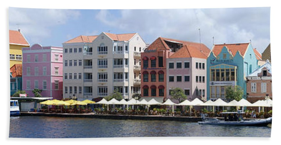 Main Street Hand Towel featuring the photograph Netherlands Antilles by Heather Coen