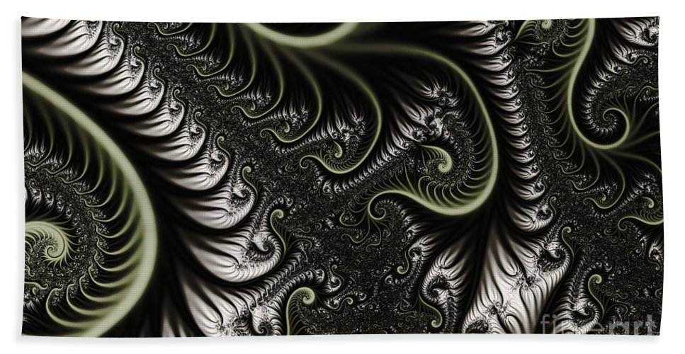 Clay Hand Towel featuring the digital art Neural Network by Clayton Bruster
