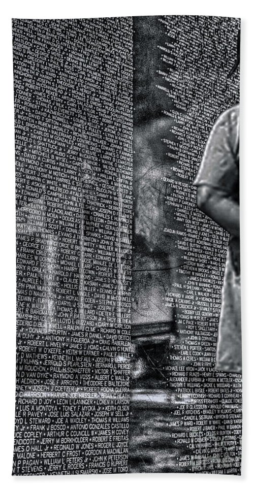 Vietnam Hand Towel featuring the photograph Never Forgotten by Tommy Anderson