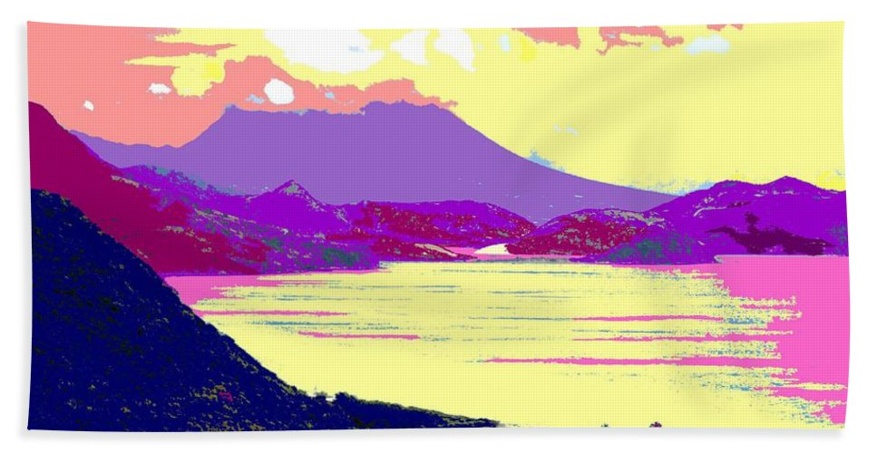 Nevis Bath Towel featuring the photograph Nevis From The Penninsula by Ian MacDonald