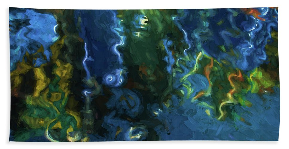 Abstract Bath Sheet featuring the photograph New Bedford Waterfront IIi by David Gordon