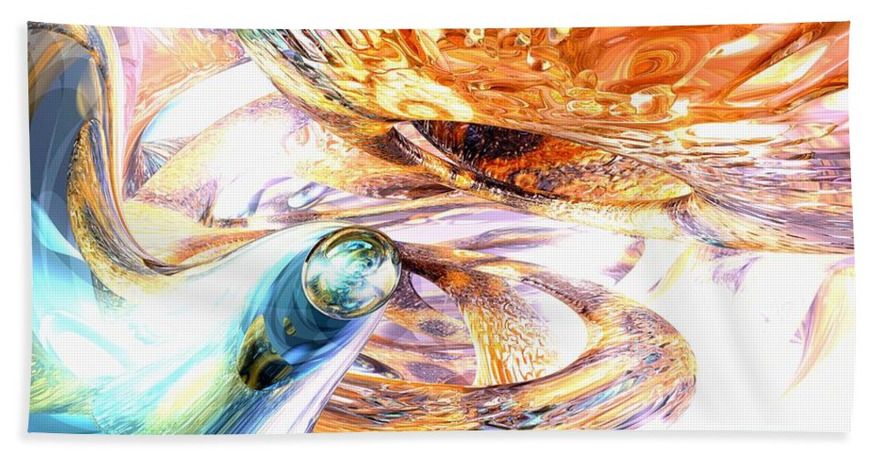 3d Bath Sheet featuring the digital art New Beginnings Abstract by Alexander Butler