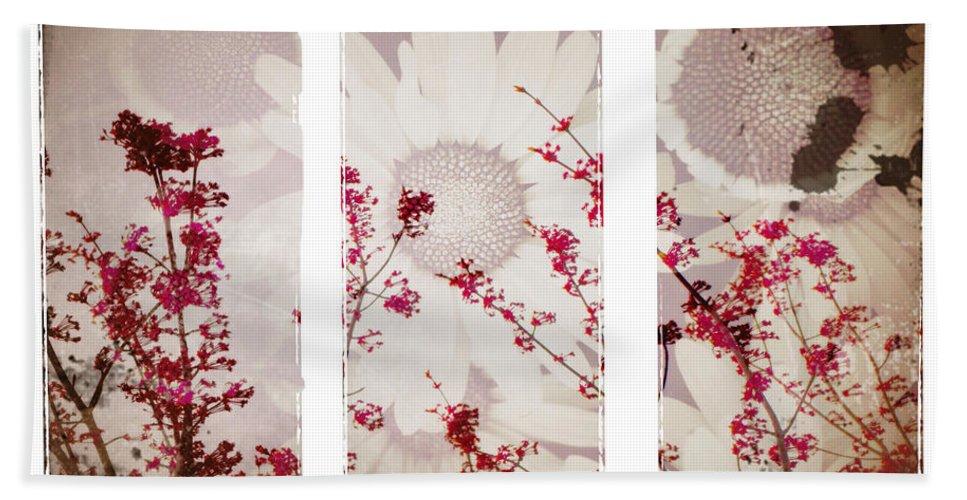 Flowers Bath Sheet featuring the photograph New Beginnings by Tara Turner