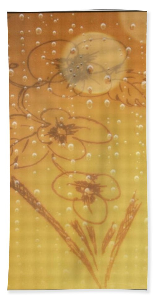 Flower Bath Sheet featuring the drawing New Born by Sant Bhuarya