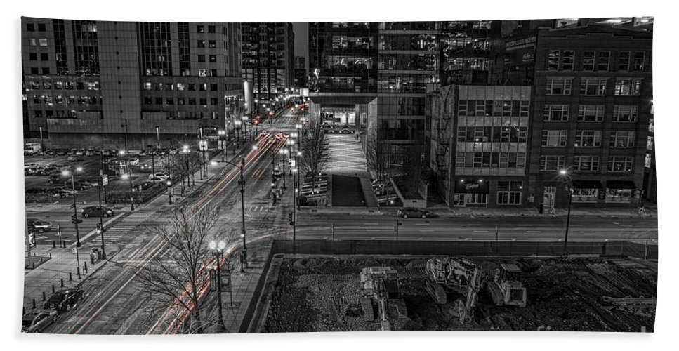 Sony Bath Sheet featuring the photograph New Buildings On Old Streets by Steven K Sembach
