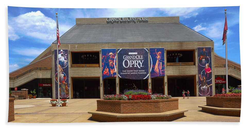 Grand Ole Opry Hand Towel featuring the photograph New Grand Ole Opry House by C H Apperson