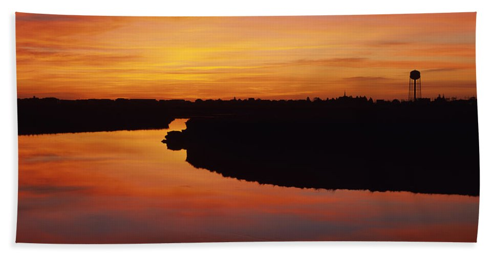 Atlantic Ocean Bath Towel featuring the photograph New Hampshire Salt Marsh At Sunrise by Erin Paul Donovan