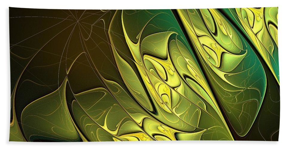 Digital Art Bath Sheet featuring the digital art New Leaves by Amanda Moore