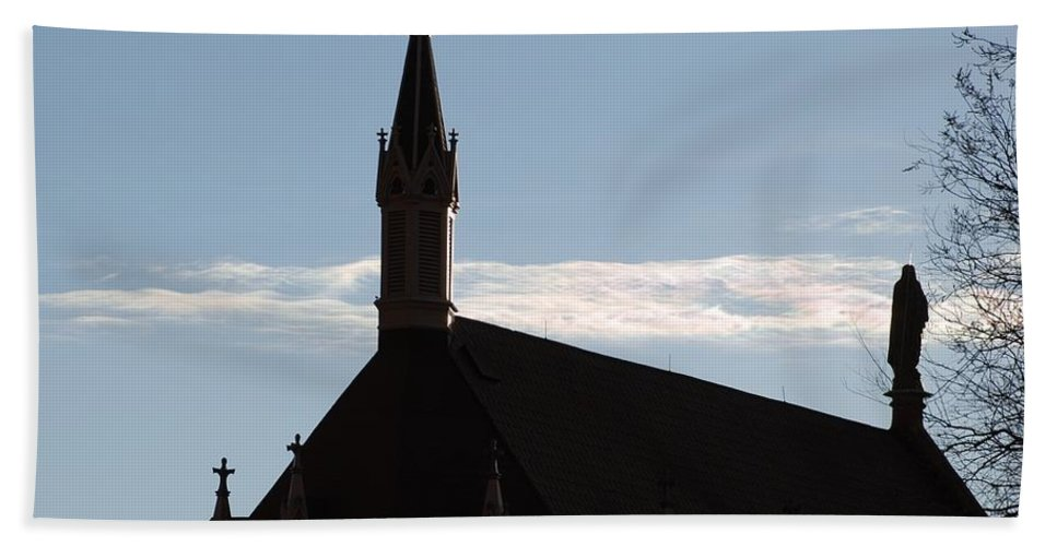Church Hand Towel featuring the photograph New Mexican Church by Rob Hans