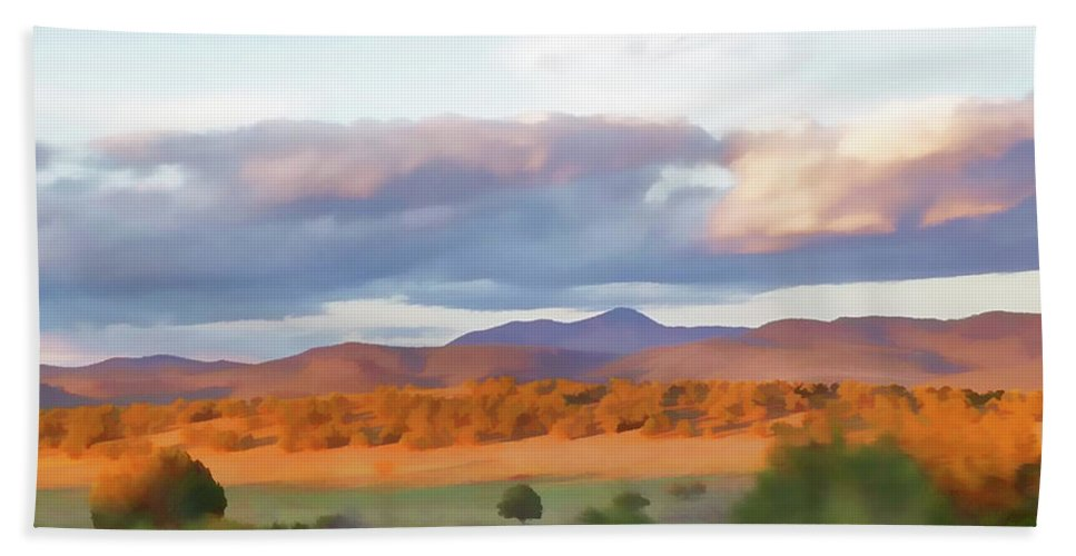 Southwest Bath Sheet featuring the photograph New Mexico Pastel by Jennifer Stackpole