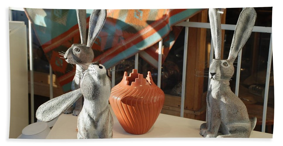 Rabbits Bath Towel featuring the photograph New Mexico Rabbits by Rob Hans