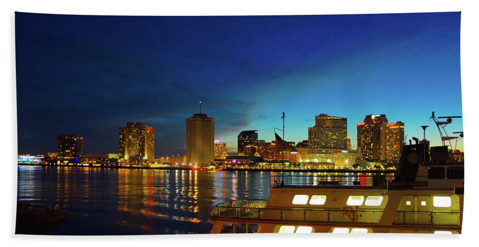 New Orleans Hand Towel featuring the photograph New Orleans Downtown Skyline by Art Spectrum