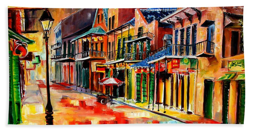 New Orleans Bath Sheet featuring the painting New Orleans Jive by Diane Millsap