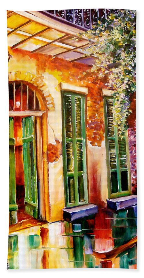New Orleans Hand Towel featuring the painting New Orleans Mystery by Diane Millsap