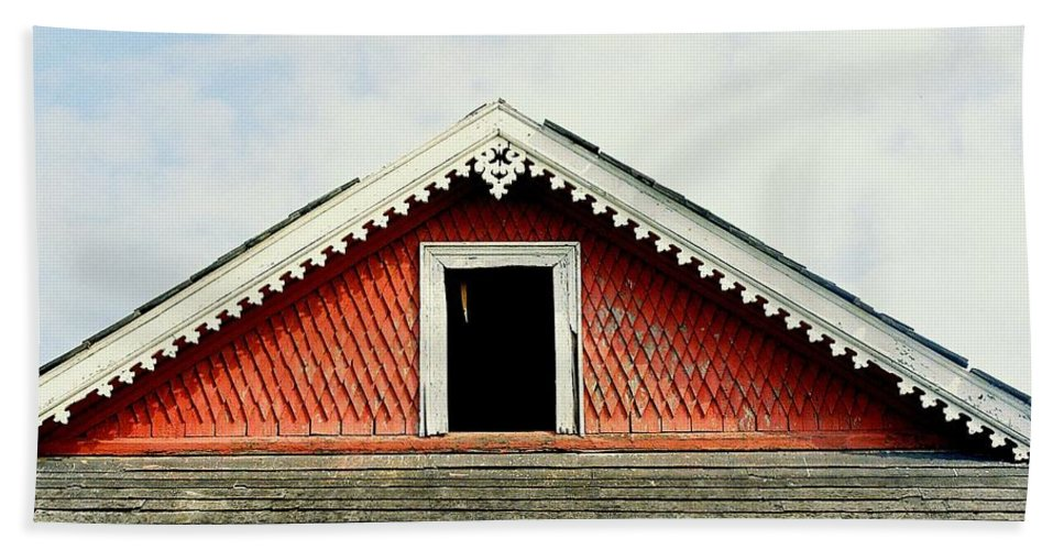 Nola Bath Sheet featuring the photograph New Orleans Rooftop Architecture Fish Scales And Gingerbread by Michael Hoard