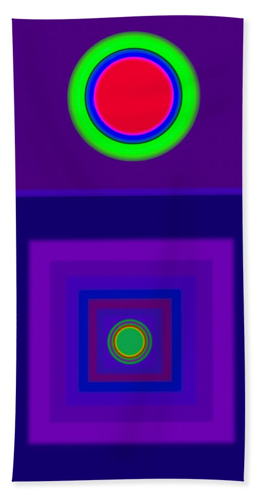 Classical Bath Towel featuring the digital art New Violet by Charles Stuart