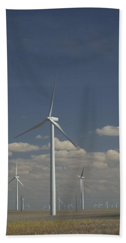 Windmill Hand Towel featuring the photograph New Windmill by Sara Stevenson