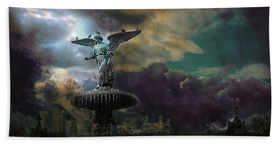 New York Hand Towel featuring the photograph New York Series Number 3 by Jeff Burgess