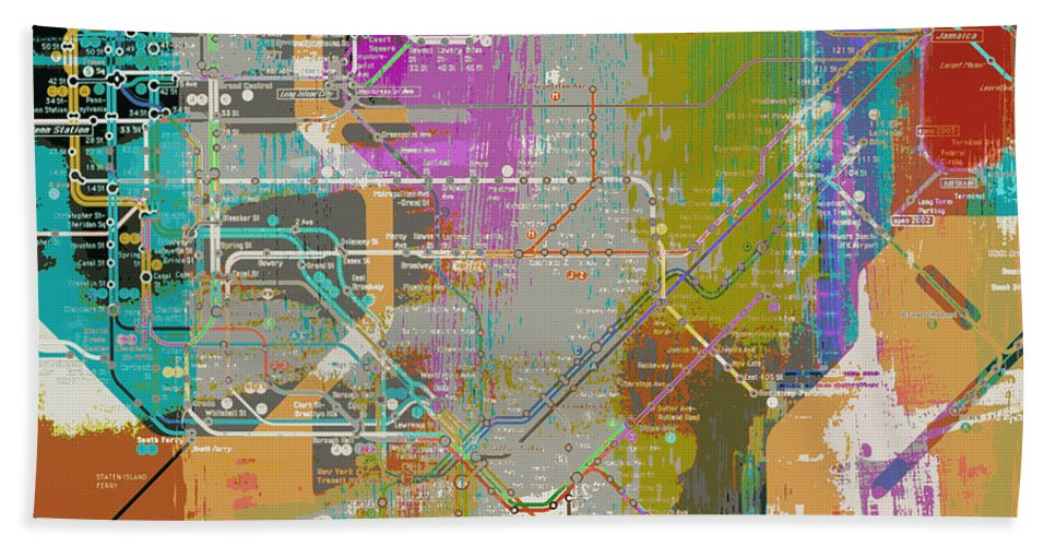 New York Subway Map For Sale.New York Subway Map Hand Towel