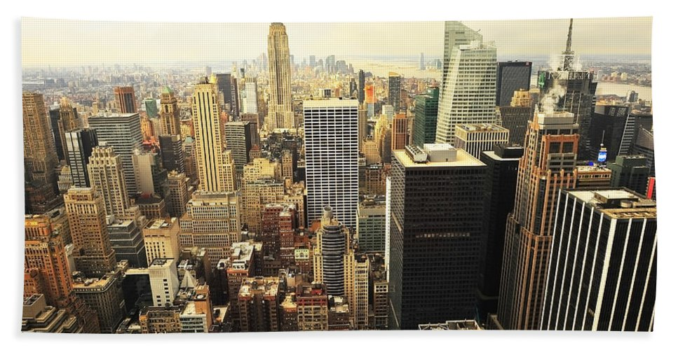 America Hand Towel featuring the photograph New York by Svetlana Sewell