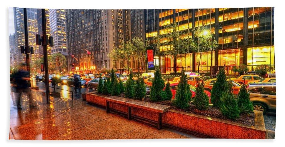 America Bath Sheet featuring the photograph New York05 by Svetlana Sewell