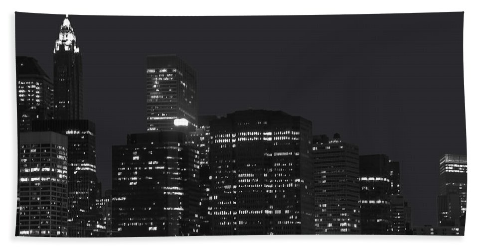 America Bath Sheet featuring the photograph New York09 by Svetlana Sewell