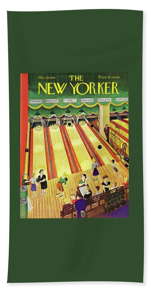5b192c0fd New Yorker March 29 1941 Bath Sheet for Sale by Ilonka Karasz