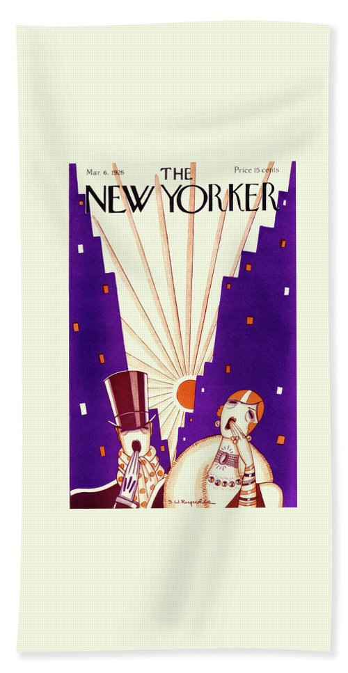 Illustration Bath Sheet featuring the drawing New Yorker March 6 1926 by Stanley W Reynolds