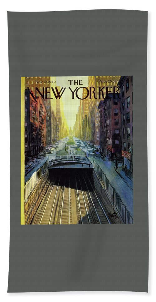 New Yorker November 12 1960 Bath Sheet