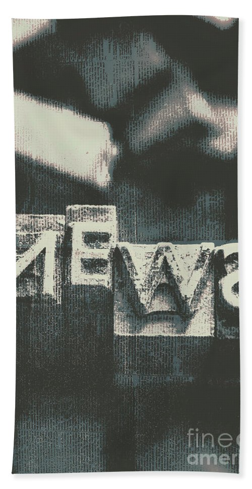 Media Bath Towel featuring the photograph Newspaper Printing Press Art by Jorgo Photography - Wall Art Gallery