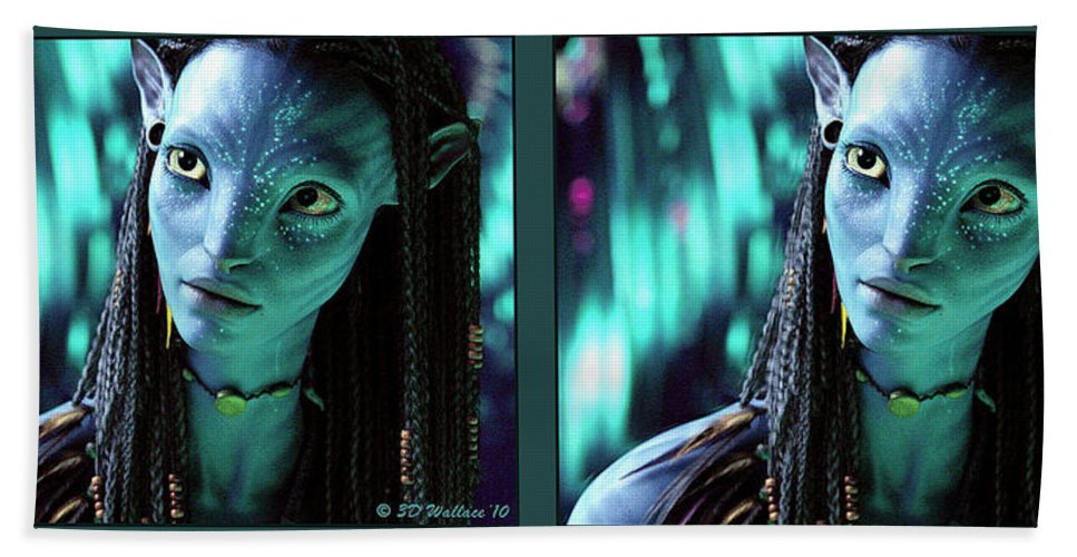 3d Hand Towel featuring the photograph Neytiri - Gently Cross Your Eyes And Focus On The Middle Image by Brian Wallace